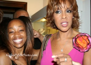 "Gayle King & SusieQ ""How do you get arms to look like that?"""